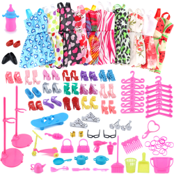 Dolls Dress Up Clothes Dresses Minidress Accessories Party Wear  one size
