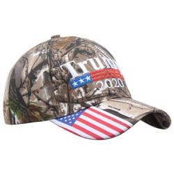 Donald Trump 2020 Cap Camouflage USA Flag Baseball Cap President Army green