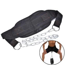 Drop Shipping Dip Belt Weight Lifting Gym Body Midja Styrka T