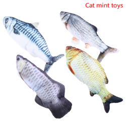 Electronic Pet Cat Toy Electric USB Charging Simulation Fish Toy D