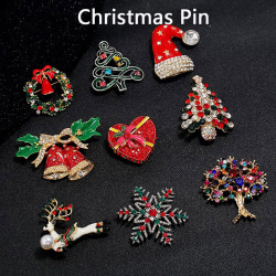 Elegant Portable Christmas Pins Wreath Ladies Brooches Lots Shap 4