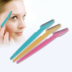 Facial Eyebrow Razor Trimmer Shaper Shaver Blade Knife Hair Remo Pink