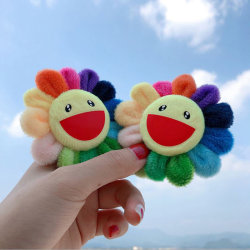 Fashion Colorful Sun Flower Brooch Pin Collar Badge Corsage Jewe Multicolor