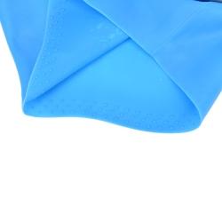 Flexible Silicone Swimming Cap Stretch Bathing Hats Waterproof U yellow