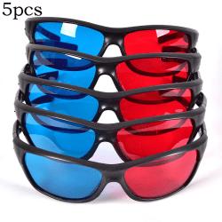 Frame Red Blue 3D Glasses For Dimensional Anaglyph Movie Game D Black 80*58*35CM