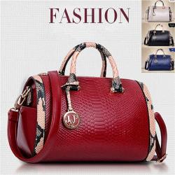 Genuine Leather Ladies Handbags Women  Bags Totes Messenger Bags Red