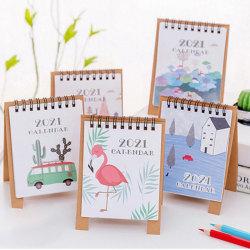 Hand Drawing 2021 Cartoon Mini Desktop Paper Calendar Scheduler  C