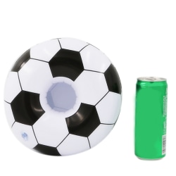 Inflatable Football Coasters Water Cup Holder Floating Drink Swi Black