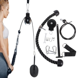 LAT PULL DOWN HOME WORKOUT CABLE PULLEY MULTI GYM EQUIPMENT HANG onesize