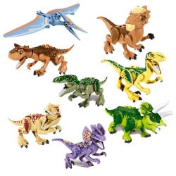 Legoing 28.5cm Jurassic World Dinosaurs Tyrannosaurus Triceratop D