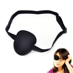 Medical Use Concave Eye Patch Foam Groove Adjustable Strap Washa