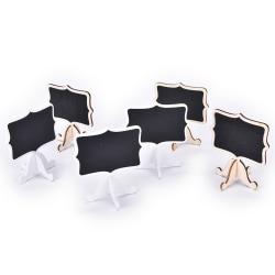 Mini Blackboard Chalkboard Wooden Blackboard Price Stand For New White