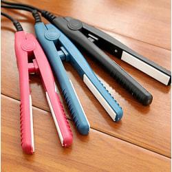 Mini Ceramic Hair Care Curl Straightener Flat Iron Perm Splint T