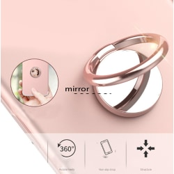Mirror Finger Ring Phone Holder Bracket Universal Mobile Phone  one size