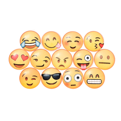 Blandade söta Emoji-mönster Magneter Klistermärke Tecknad anteckningsmeddelande