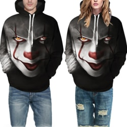 Movie Stephen King IT The Clown Pennywise Hoodies Halloween Cosp Black S
