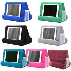 Multi-Angle Pillow Tablet Read Holder Stand Foam Lap Rest Cushi Lake blue