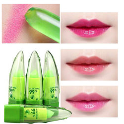 Natural Aloe Vera Lipstick Long Lasting Color Temperature Change 00