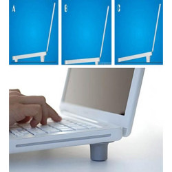 New 2Pcs Big + 2Pcs Small Laptop Notebook Cooler Stand Skidproof