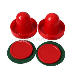 New Mini Air Hockey 65mm Goalies 50mm Pucks Felt Pusher Set CN S