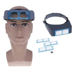 Optivisor huvudband förstoringsglas lupp reparation hjälm förstoringsglas