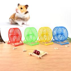 Pet Hamster Toys Running Jogging Sport Wheel Spinner Pet Suppli random 5.12inch×5.51inch×1.97 inch