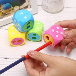 Plastic Dice Pencil Sharpener Cutter Stationery Kids School Offi onesize
