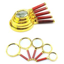Bärbart förstoringsglas 10X handhållen 60/70/80/90/100 mm Portab