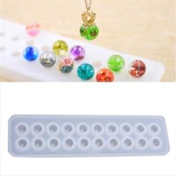 Harts silikon bollpärlor mögel hängande mögel DIY hantverk smycken