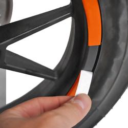 Scooterhjulnav Skyddande reflekterande klistermärke för Xiaomi M36 Red