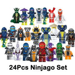 Set of 24 pcs Ninjago Mini Figures Kai Jay Sensei Wu Master Buil one size