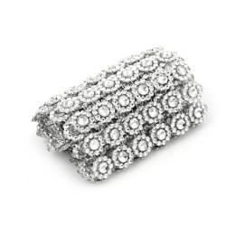 Silver Plastic Diamond Rhinestone Ribbon Mesh Wrap Wedding Decor 0 1