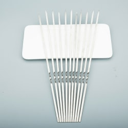 spett för grill återanvändbar grill rostfritt stål spett shis OneSize