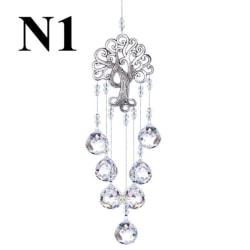 Livets träd hängande kristallkula prismer lönnlövform H N1