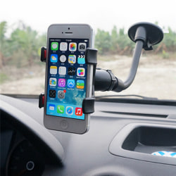 Universal 360°Rotating Car Windshield Mount Holder Stand Bracket Black One Size