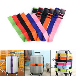 Useful Travel Luggage Suitcase Strap Baggage Backpack Safe Belt Pink