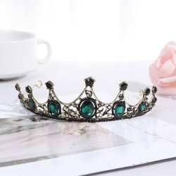 Vintage Baroque Imitated Emerald Crystal Tiaras and Crowns Brida one size