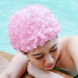 Vintage Floral Ladies Woman Swim Cap Petal Retro Swimming Hat Fl Multicolor