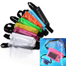 waterproof waist bag swimming drifting diving pouch waist belt b Black