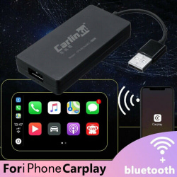 Wireless Bluetooth USB Dongle For iPhone CarPlay Android Navigat Black