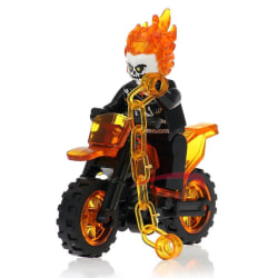 WM298 gost rider motorcycle legoing marvel avengers heroes build One Size