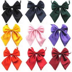 Women Lady Girls Butterfly Bowtie Silk Bow Ties Formal Bow Tie N Black Total Length:46cm,17*16CM,