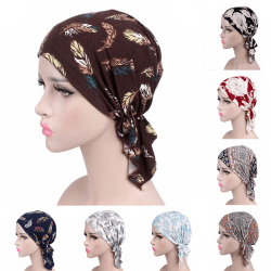 Women Muslim Turban Cancer Chemo Cap Stretch Wrap Beanie Head Sc A