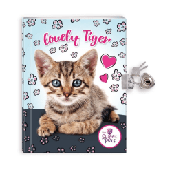 Dagbok med hänglås - Katter
