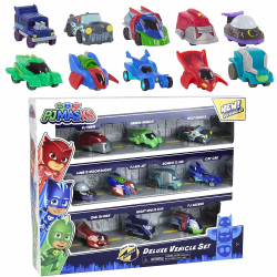 10-Pack PJ Masks Pyjamashjältarna Deluxe Vehicle Set Bilar  multifärg