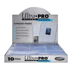 10-Pack Ultra Pro Silver Series Pages 9 Fickors Samlarficka Tran Transparent