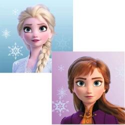 2-Pack Frozen Frost Anna & Elsa Handduk Ansiktshandduk 30*30cm multifärg
