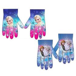 2-Pack Frozen Frost Elsa Anna Vantar Fingervantar One Size Rosa one size