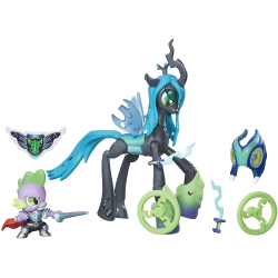 2-Pack My Little Pony Queen Chrysalis Vs Spike the Dragon Figure MultiColor