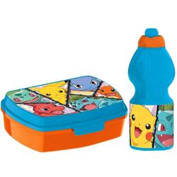 2-Pack Pokémon Pikachu & Co. Matlåda Och Pop-up Vattenflaska MultiColor